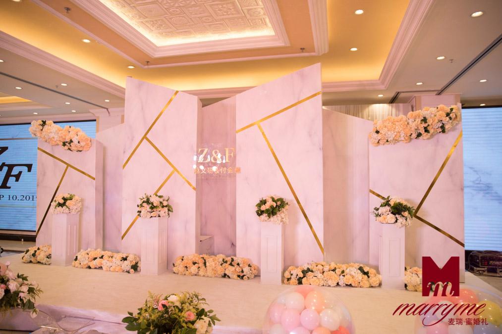 长春禧庆会婚礼室内粉色婚礼